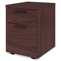 "Box/File Mobile Pedestal for 10500/10700 Shells, 21 7/8"" High, Mahogany"