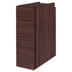 Narrow Box/Box/File Pedestal for 10500/10700 Series Shells, 9.5w x 22.75d x 28h, Mahogany