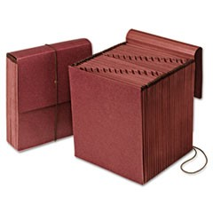 Vertical Indexed Expanding File, 1-31, 31 Pockets, Red Fiber, Letter, Redrope
