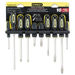 10-Piece Standard Fluted Screwdriver Set, Phillips/Slotted