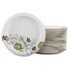 "Pathways Soak Proof Shield Heavyweight Paper Plates, 8 1/2"", 125/Pack"