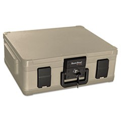 Fire and Waterproof Chest, 0.38 cu ft, 19.9w x 17d x 7.3h, Taupe