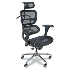 Ergonomic Executive Butterfly Chair, Black Mesh