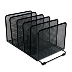Universal Deluxe Mesh Stacking Sorter, 5 Sections, Letter To Legal Size Files, 14.63  X 8.13  X 7.5 , Black