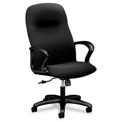 Gamut Series Executive High-Back Swivel/Tilt Chair, Black