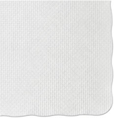 PLACEMAT 10 X 14 SCALLOP WHITE