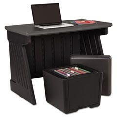 SnapEase Desk and Otto Seat Storage Combo, Black/Charcoal