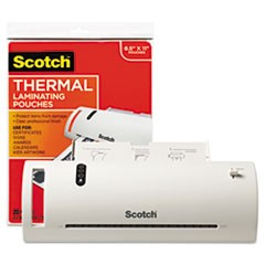 "Thermal Laminator Value Pack, 9"" W, with 20 Letter Size Pouches"