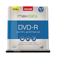 DVD-R Discs, 4.7GB, 16x, Spindle, Gold, 100/Pack