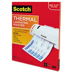Letter Size Thermal Laminating Pouches, 3 mil, 11 1/2 x 9, 100/Pack