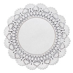 "Cambridge Lace Doilies, Round, 8"", White, 1000/Carton"