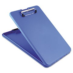 "SlimMate Storage Clipboard, 1/2"" Clip Capacity, Holds 8 1/2 x 11 Sheets, Blue"