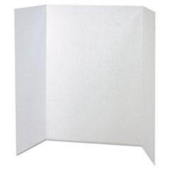 Spotlight Corrugated Presentation Display Boards, 48 x 36, White, 4/Carton
