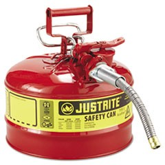 Type II AccuFlow Safety Can, 2.5gal, Red, 5/8in Diameter Hose