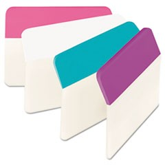 "2"" Angled Tabs, 1/5-Cut Tabs, Assorted Pastels, 2"" Wide, 24/Pack"