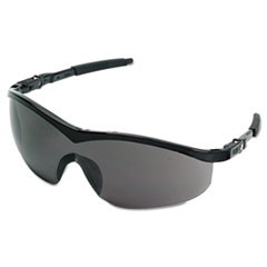 Storm Safety Glasses, Black Frame, Gray Lens, Nylon/Polycarbonate