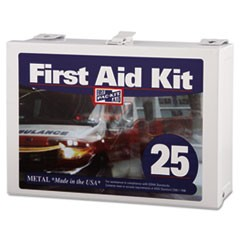 First Aid Kit for Up to 25 People, 159-Pieces, Steel