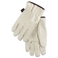 Premium Grade Leather Insulated Driver Gloves, Cream, Large, 12 Pairs