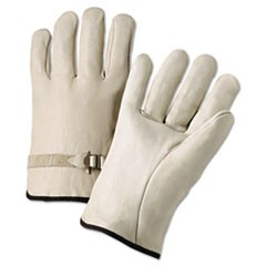 4000 Series Leather Driver Gloves, Natural, Large, 12 Pairs