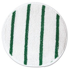 "Low Profile Scrub-Strip Carpet Bonnet, 17"" Diameter, White/Green"