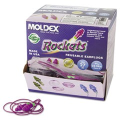 Rockets Reusable Earplugs, Corded, 27NRR, Bag