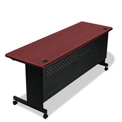 Agility Series Rectangular Table, 72w x 24d x 29-1/2h, Mahogany/Black