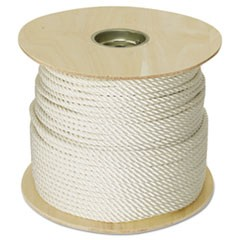 "Twisted Nylon Rope, 3/8"" x 300ft, White"