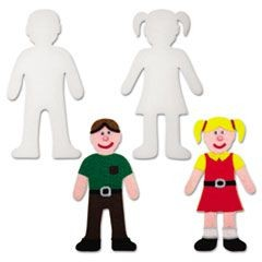 "Peel & Stick People Decoration Boards, 8"", 12 Pieces"