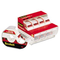 Scotch Transparent Tape In Handheld Dispenser, 1  Core, 0.75  X 70.83 Ft, Transparent, 4/Pack