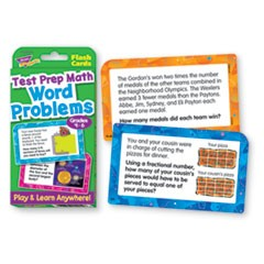 Challenge Flash Cards, Math Grades 4-6, 3 1/8 x 5 1/4, 56 per Pack