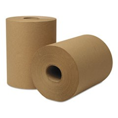 EcoSoft Hardwound Roll Towels, 350 ft x 8 in, Natural, 12 Rolls/Carton
