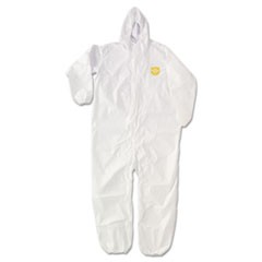 ProShield NexGen Elastic-Cuff Hooded Coveralls, White, 3X-Large, 25/Carton