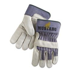 Mustang Grain-Leather-Palm Gloves, Medium