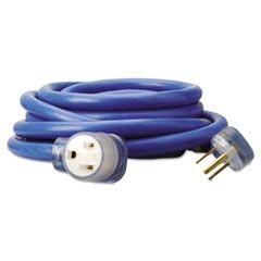 Welder Extension Cord, AWG 8/3, 25ft, 40A, Blue, Lit End