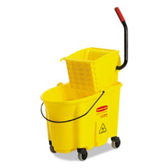 Mopping Bucket and Wringer Combo Pack, Yellow