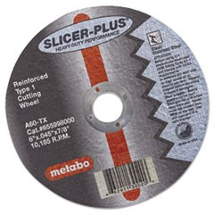"SLICER-PLUS High-Performance Cutting Wheel, 6"" x .045 x 7/8"", Type 1, A60TX"