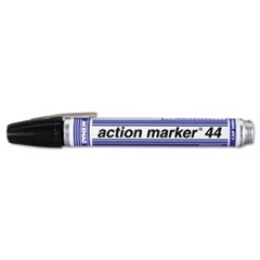 Action Marker Dye-Based Permanent Marker, Bullet Tip, Black