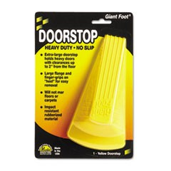 Giant Foot Doorstop, No-Slip Rubber Wedge, 3.5w x 6.75d x 2h, Safety Yellow