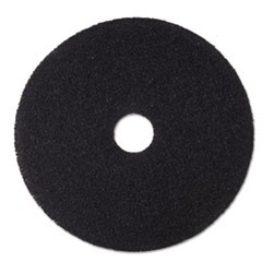 "Low-Speed Stripper Floor Pad 7200, 16"" Diameter, Black, 5/Carton"