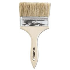 "Chinese Bristle-Chip Brush, 4"", White"