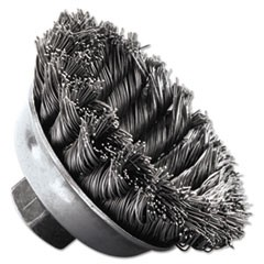 "SRA-3 General-Duty Knot Wire Cup Brush, .020, 5/8-113, 1/2"" dia"