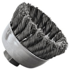 "SRA-2 General-Duty Knot Wire Cup Brush, .014, 5/8-112, 3/4"" dia"