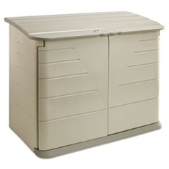 Horizontal Storage Shed 56 1/2 x 32 x 48, 32 cu. Ft., Olive/Sandstone