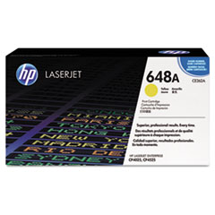 HP 648A, (CE262A) Yellow Original LaserJet Toner Cartridge