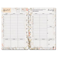 Blooms Dated Weekly/Monthly Planner Refill, Jan.-Dec., 5 1/2 x 8 1/2, 2019
