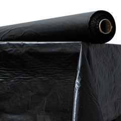 "Plastic Table Cover, 40"" x 300 ft Roll, Black"