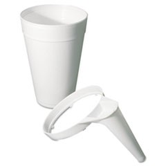 Plastic Pitcher Handle, For 32/44oz Foam Cups, White, 25/Bag, 20 Bags/Carton