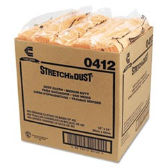 Stretch 'n Dust Cloths, 11 5/8 x 24, Yellow, 40 Cloths/Pack, 10 Packs/Carton
