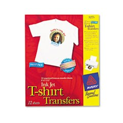 Fabric Transfers, 8 1/2 x 11, White, 12/Pack