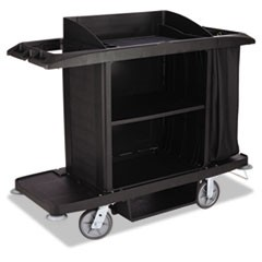 Housekeeping Cart, 22w x 60d x 50h, Black